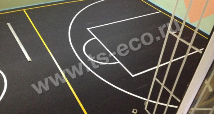 Рулонное резиновое покрытие для спортзала