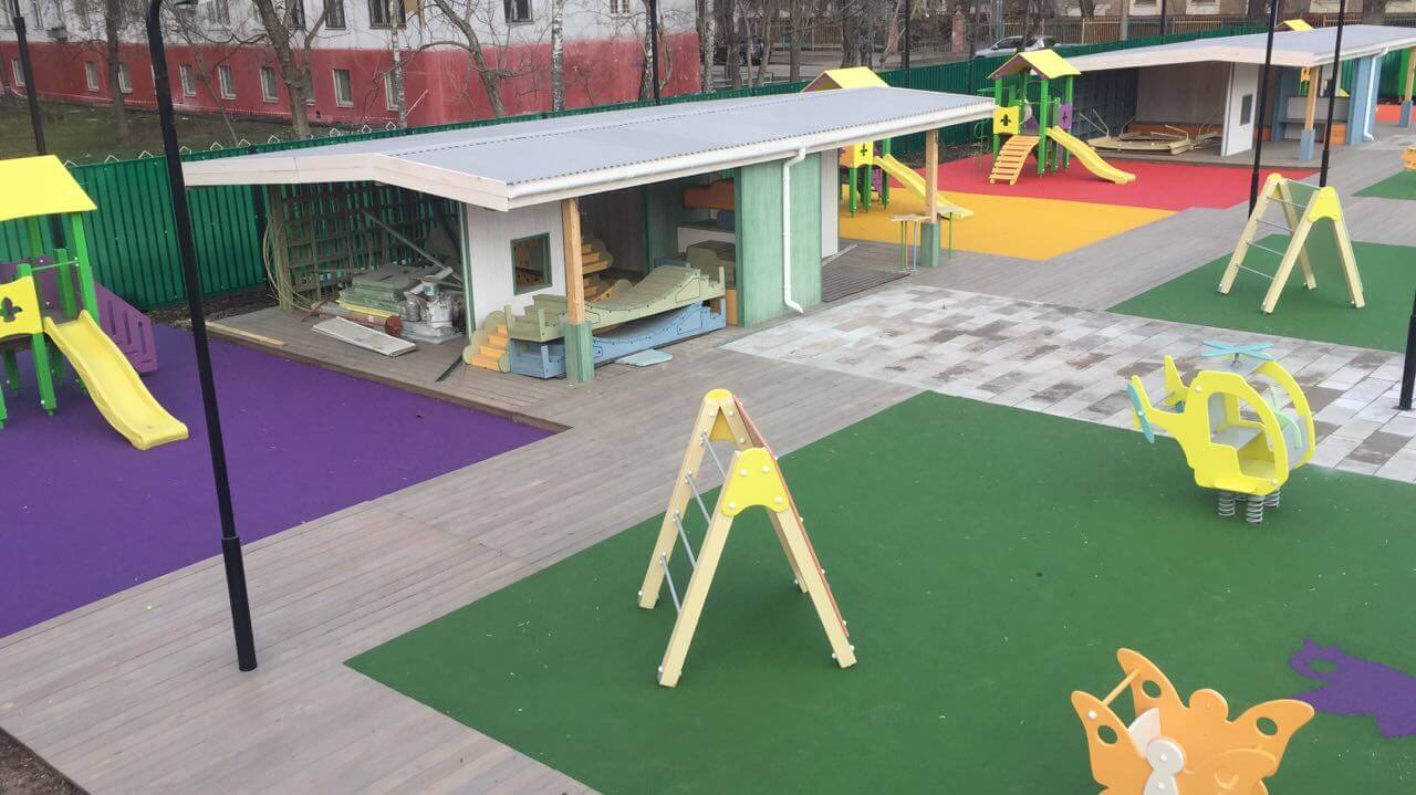 Покрытие на детской площадке