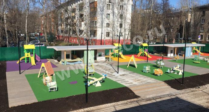 EPDM-покрытие для детского сада